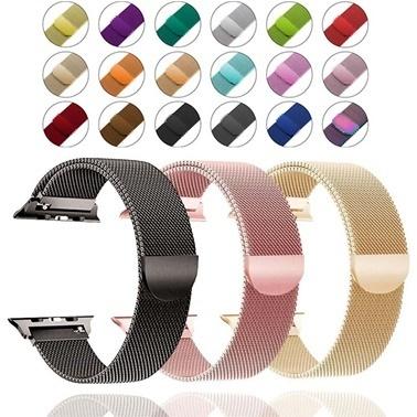 Lopard Watch 40mm Kayış KRD-01 Metal Milanese Çelik Kordon Renkli